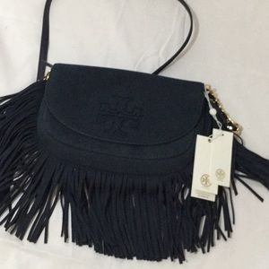 NWT Tory Burch Harper Fringe Mini Crossbody
